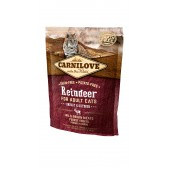 Carnilove Cat 0,4 kg Raindeer - Energy & Outdoor (д/активных)