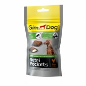 Nutri Pockets д/собак Shiny 45г для шерсти
