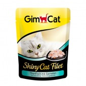Shiny Cat pouch 70g. тунец и креветка